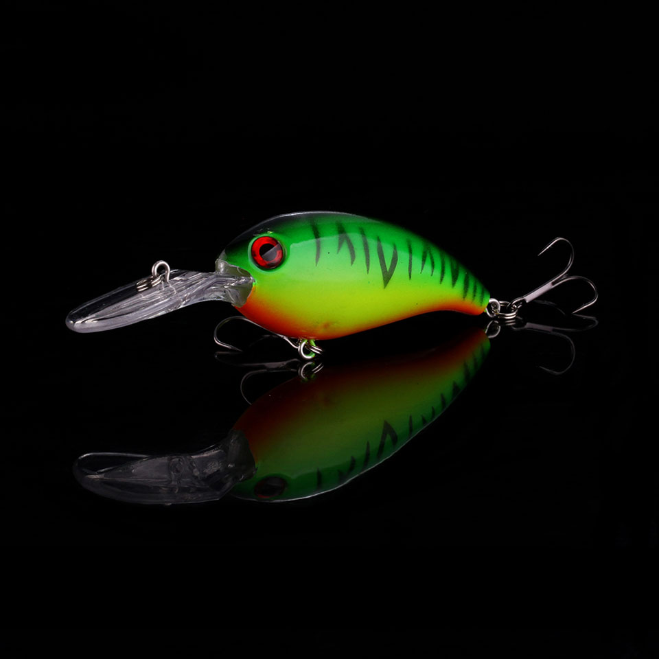 WALK FISH 1PCS 100mm 13.3g Crankbait Fishing Wobblers Hard Bait Bass Spinner Fishing Lures Pesca Fishing Tackle Pesca
