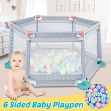 Baby Safety Fence Children Barrier Playpen 6/8 Panels with 10/50 balls For Children Baby Play Yard Fence Pool Balls Playpen Tent(China)