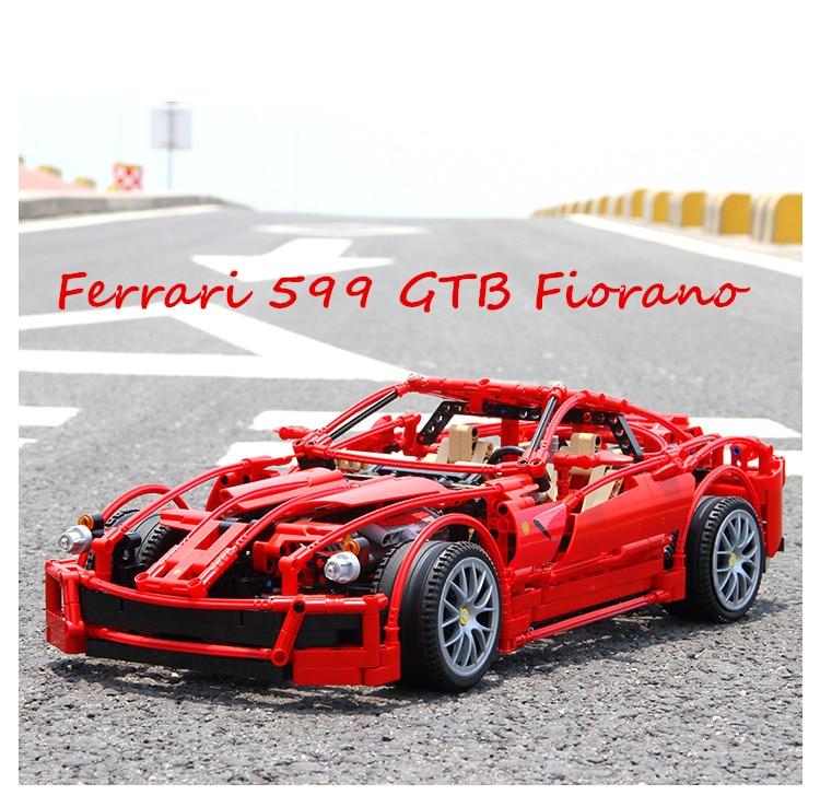 Technic racing car enzo ferraring 599 gtb fiorano 1:10 빌딩 블록 벽돌 호환 lgset 8145 racer 모델 완구 선물-에서블록부터 완구 & 취미 의  그룹 1