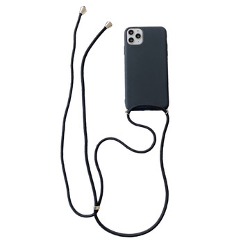 Crossbody Necklace strap Lanyard Cord silicone phone case for iphone 12 MiNi 12 Pro Max 11 Pro Max X XR XS Max 6S 7 8 plus cover 6