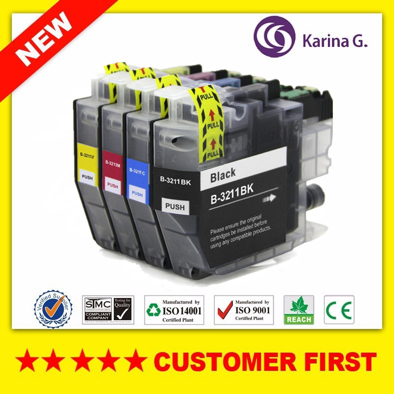 Compatible Ink Cartridge For Brother LC3211 LC3213 Suit For Brother DCP-J772DW,DCP-J774DW,MFC-J890DW,MFC-J895DW Etc.