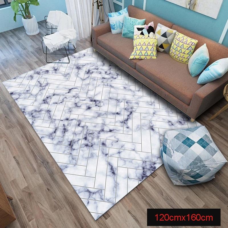 Tapis de zone marbre doré lignes géométriques marbré décor à la maison tapis de sol tapis vj-drop