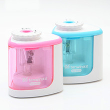 Creative Mushroom Head Electric Pencil Sharpener Manual And Electric Dual Purpose Sharpener With Battery  School Stationery