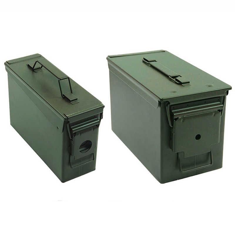 30 + 50 Cal/Set Metall Ammo Fall Können Military Solide Stahl Halter Box Wasserdichte Taktische Box für Langfristige kugel Wertsachen Lagerung