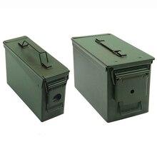 30 + 50 Cal/zestaw metalowe amunicja przypadku Can wojskowych stałe stali nierdzewnej pojemnik na pudełko wodoodporna taktyczne pudełko do długotrwałego Bullet kosztowności do przechowywania