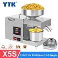 YTK X5S Automatische Haushalts Leinsamen Öl Press Oil Extractor Erdnussöl Presse Kalte Presse Öl Maschine 1500W (MAX)