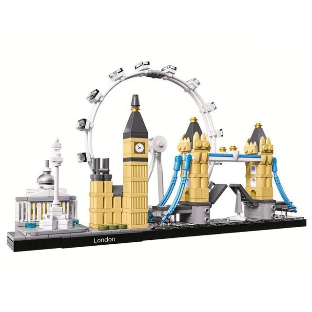 Architecture Skyline Collection London City Building Blocks Kit Bricks Sets Classic Model Kids Toys For Children Gift