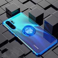 Case for Huawei Mate 30 P40 P30 Pro Lite P20 Nova 5T 5i 4e P Smart Y7 Prime Y6 Honor 9X 8X V30 20 Magnet Ring Holder Cover Funda
