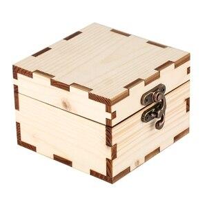 Caja cuadrada de madera para reloj, caja de almacenamiento para reloj, caja de mesa con cuerno de bloqueo antiguo, organizador de bambú con protección medioambiental, caja expositora