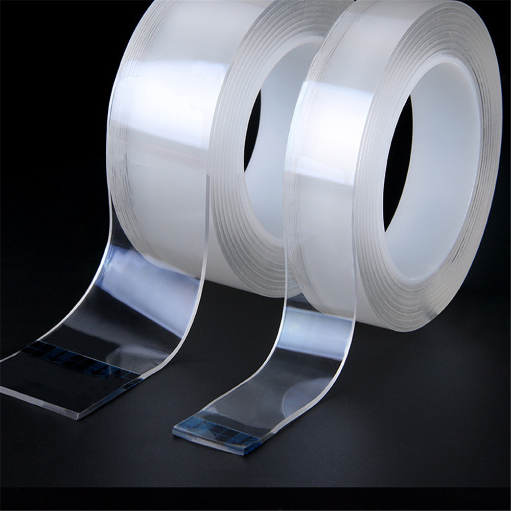 Waterproof  Transparent  Double Sided Nano Tape  Reuse Home Tapes Adhesives Porcelain wood metal plastic Super Glue