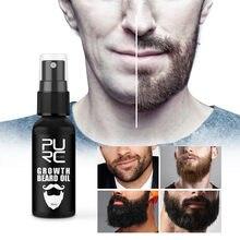 30ml crescimento barba óleo crescer barba mais grosso & mais completo engrossar cabelo barba óleo perda de cabelo produtos spray barba crescer produto tslm1
