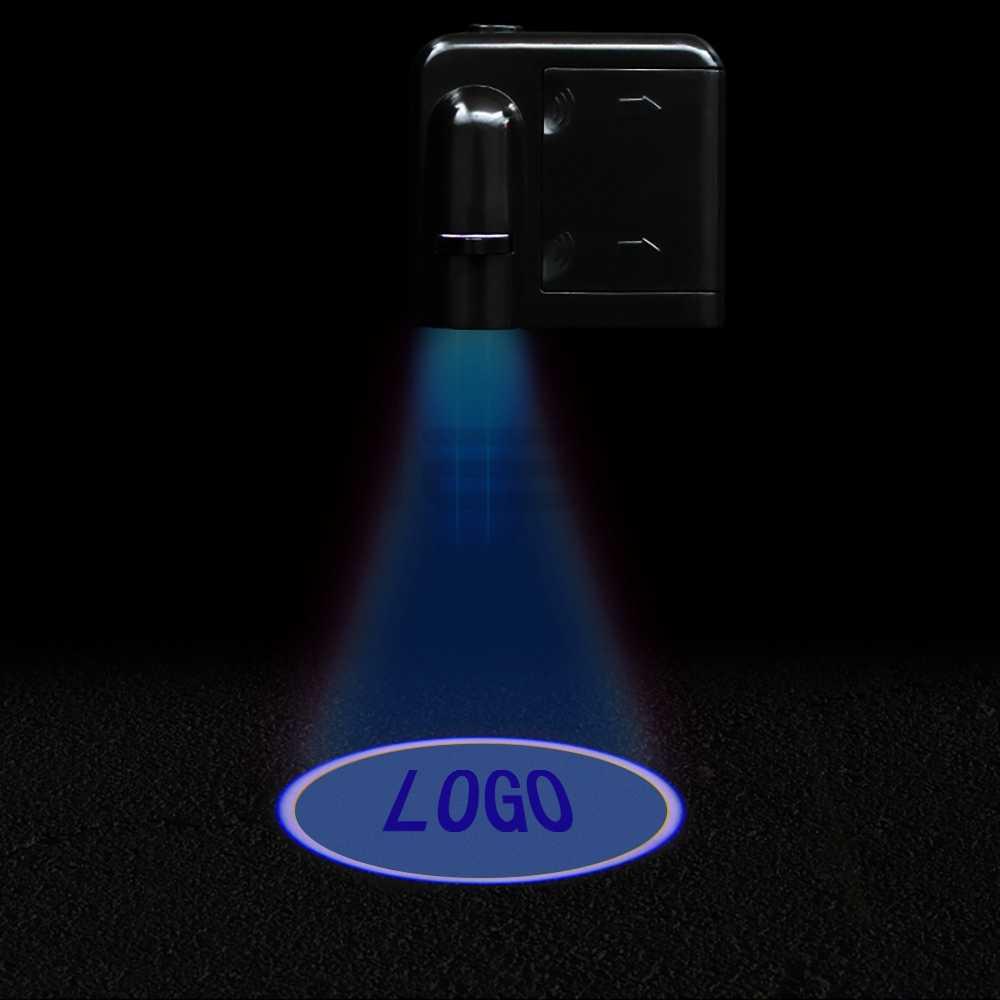 2X אוטומטי אוניברסלי אלחוטי דלת Led בברכה אור דלת מנורת הקרנת אור לייזר Led מנורת Led DC 12v Led להבת מנורת חדר מנורה