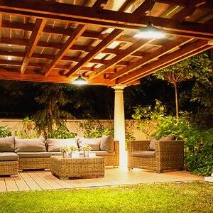 Image 5 - Lámpara Solar de araña con Control remoto bombilla LED Solar Retro, luz colgante de cable de 3 metros para lámpara de jardín al aire libre