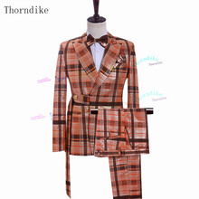 Wedding-Suit Jacket Slim-Fit Office Business Thorndike Formal New-Fashion Pants Male
