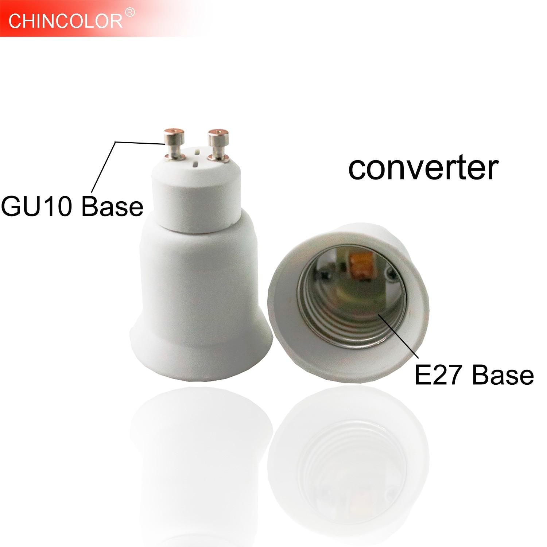 Светодиодная лампа базовый преобразователь GU10 в E27 винт держатель лампы адаптер розетка удлинитель PBT пластик безопасная быстрая доставка ...