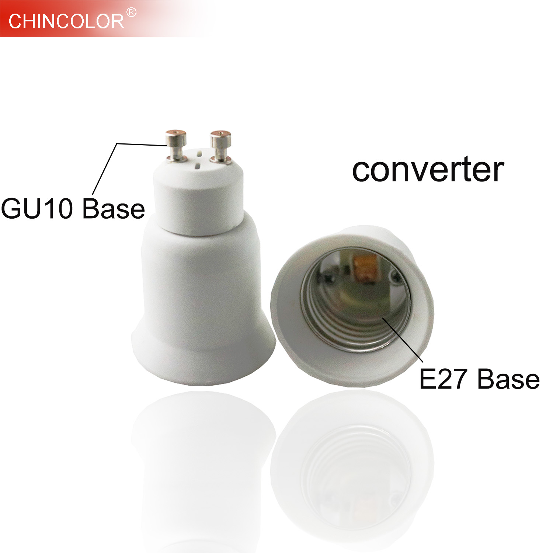Led Lamp Base Converter GU10 To E27 Screw  Light Bulb Holder Adapter Socket Plug Extender PBT Plastic Safty Fast Ship JQ