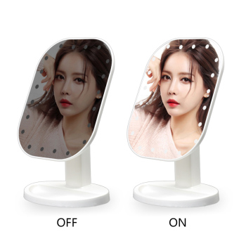 Touch Dimmer LED Mirror Touch Screen Makeup Mirror Luxury Mirror With 20 LED Lights 180 Degree Adjustable Table MakeUp Mirror 2