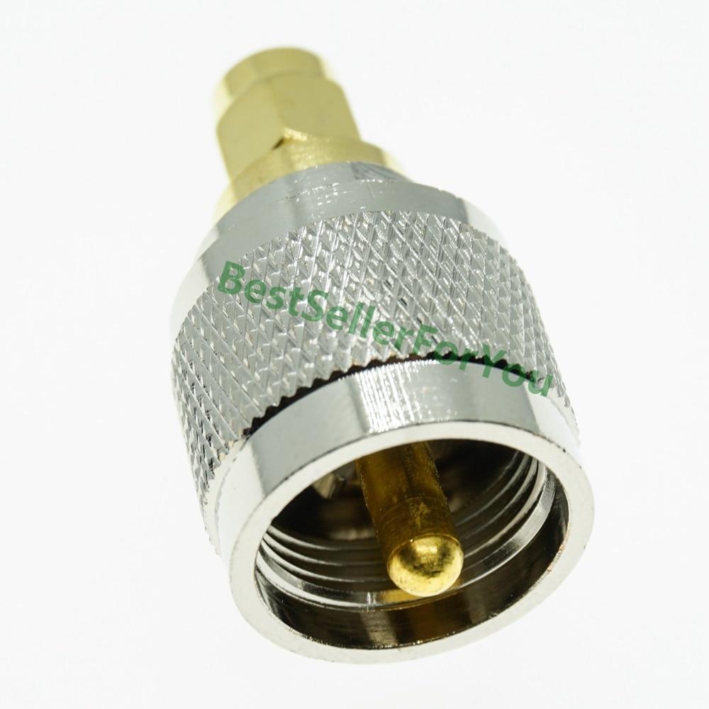 Adaptador macho pl259 uhf, conector pl 259 macho para sma, conector rf