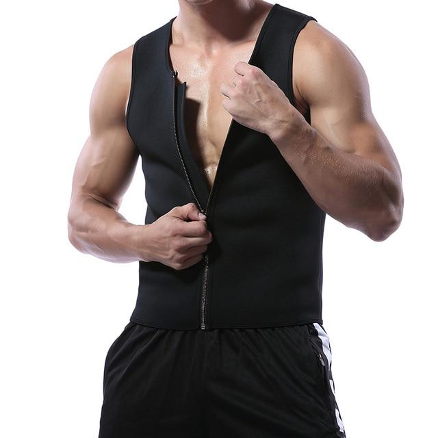 Miss Moly Men Shapers Waist Trainer Body Shaper Sauna Sweat Suit Bodysuit Men Slimming Belt Workout Fitness Tops 3