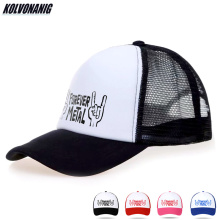2019 Women Mens Cotton Trucker Hat Forever Metal Rock Electric Guitar Hand Print Mesh Caps Dad Hats Bone Snapback Baseball Cap