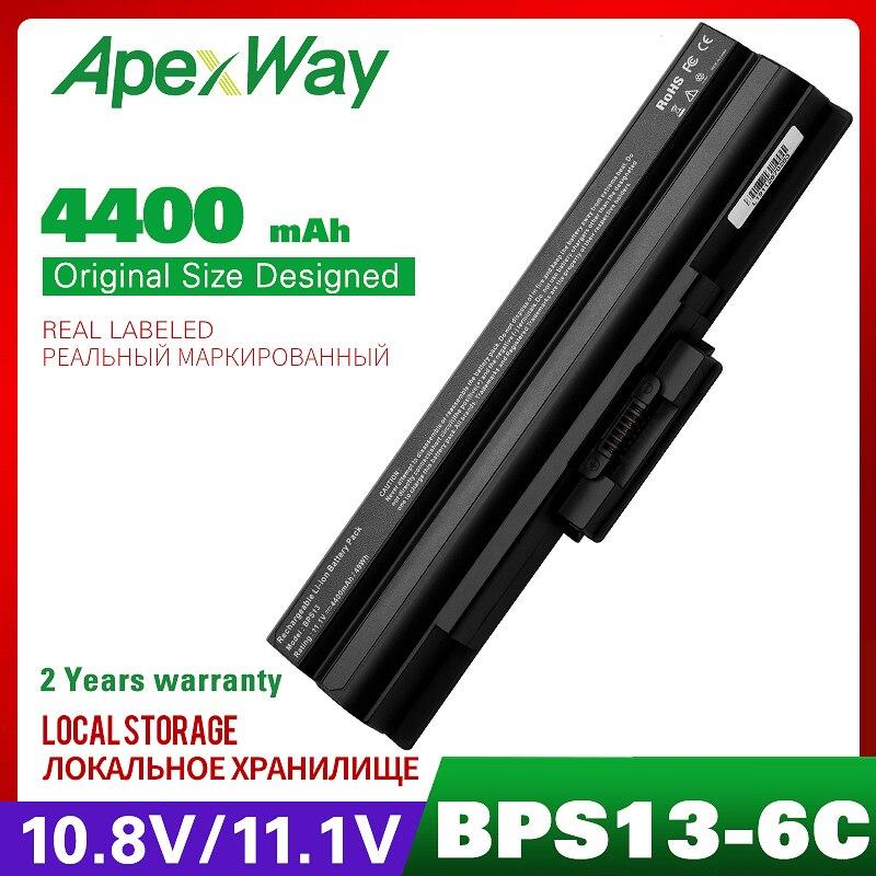 4400mah 11.1v Laptop Battery For Sony VAIOVGN-AW53FB VAIOVGN-FW150EW Vgp-bps21b VGP-BPS13A/S VGP-BPS13AS VGP-BPS13B/S VGP-BPS13S