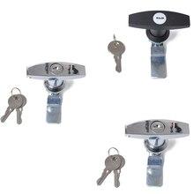 Ржавчины T ручка Высокое качество цинковый сплав замок и ключи Замена для прицепа караван навес Toolbox