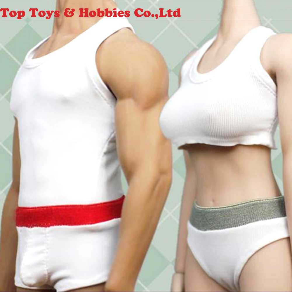 1/6 Scale male / <font><b>Female</b></font> <font><b>Sexy</b></font> 1/6 Scale Sports vest underwear Clothes Accessory Fit For 12'' Seamless <font><b>Action</b></font> <font><b>Figure</b></font> image
