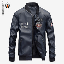 Leather Jacket Men Autumn Casual PU Motorcycle Jacket Warm Fleece Winter Coat Comfort Bomber Camp High Quality Black Business