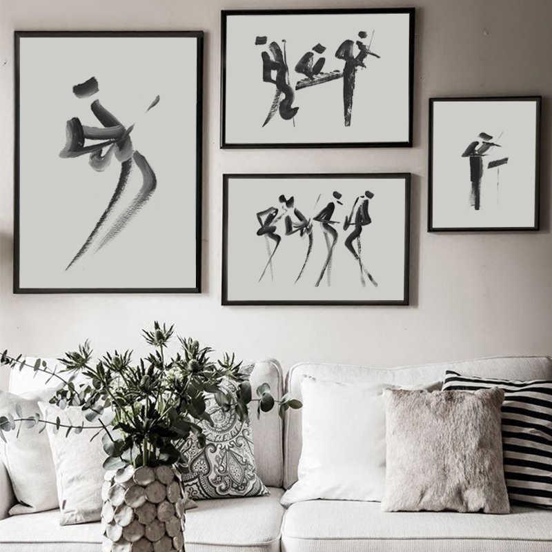 قماش الطلاء الشمال نمط يطبع بسيطة الأحرف الرئيسية ديكور جدار الفن الصور وحدات المائية حار بيع ملصق للأطفال غرفة