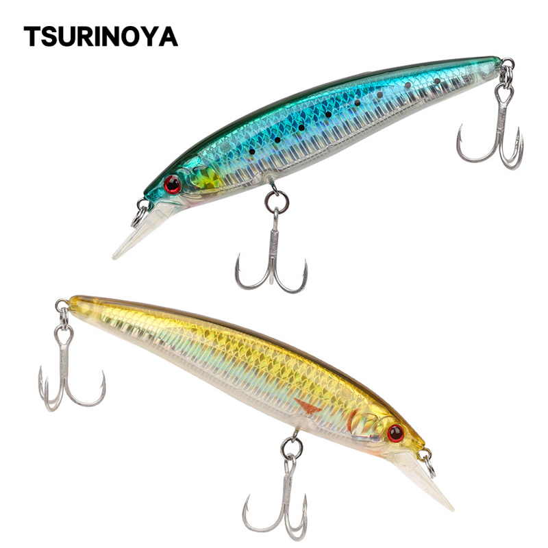 TSURINOYA Floating Minnow Fishing Lure 110S DW03 110mm/13g Professional Hard Crank Bait Artificial Fishing Wobblers Pike Bass