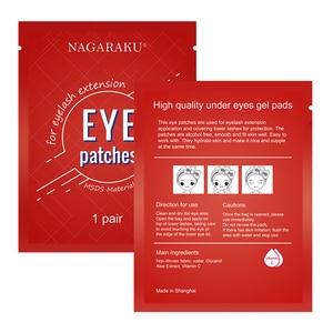 Image 5 - NAGARAKU, conjunto de almohadillas debajo de los ojos, sin pelusa, parches de Gel para los ojos, parches para la extensión de pestañas