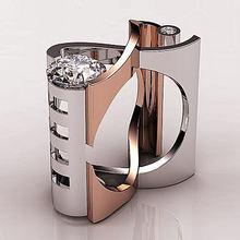 Двухцветное кольцо ed love infinity кольца для мужчин и женщин