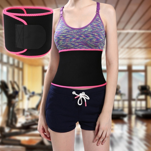 Sport Waist Trimmer Belt Weight Loss Sweat Band Wrap Fat Tummy Stomach Sauna Sweat Belt 3