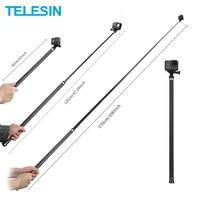 TELESIN-Palo de selfi extensible de fibra de carbono, monopié de mano de 106 pulgadas para GoPro Hero 9 8 7 6 5 para Osmo Action Insta360 GoPro Max