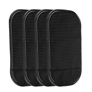 4 PCs Black ic Sticky Pad Anti Slip Mat Car Dashboard for Cell Phone