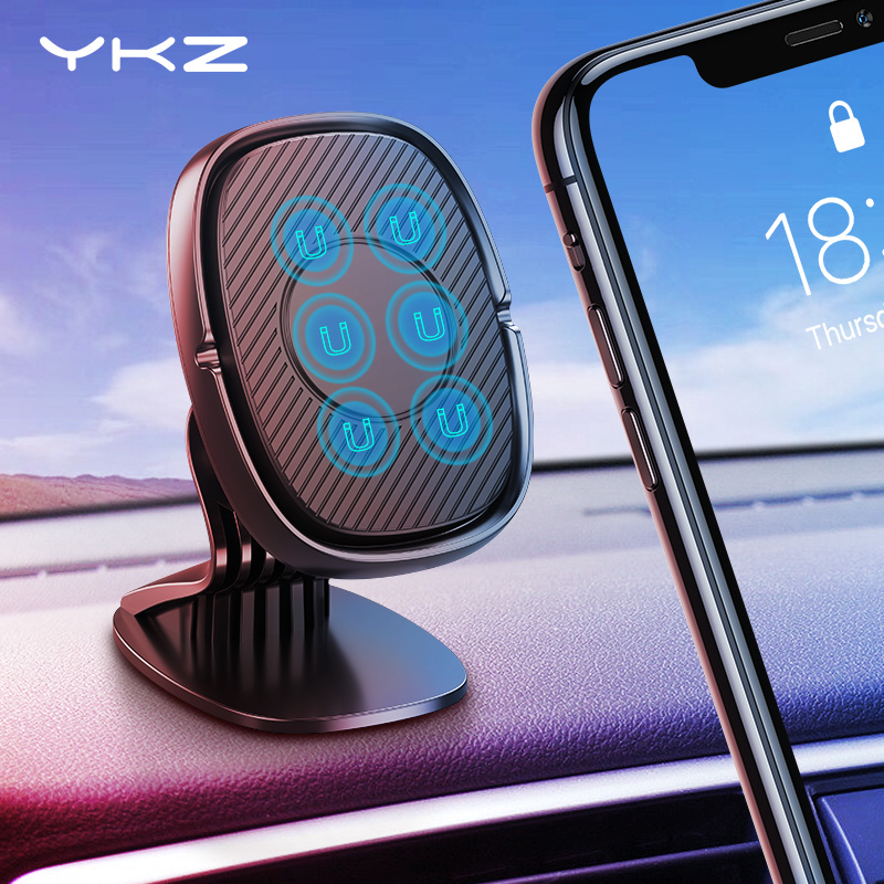 YKZ Magnetic Car Holder For iphone 11 X XS XR 8 7 6S 6 Plus SE 5S 5 Samsung Gaxaly xiaomi Oneplus Huawei GPS Mobile Phone Mount(China)