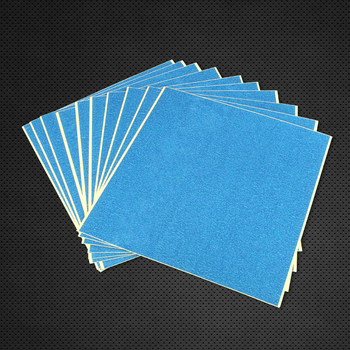 3DSWAY 3D Printer Parts Blue Textured Paper Heated Bed Platform Sticker Heat Resistant Masking Tape Paper 210*200mm image