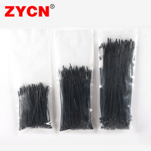 300pcs  Nylon Self-lockingCable tie Set Wire Cable Zip Ties Black Fasten Loop Various specifications