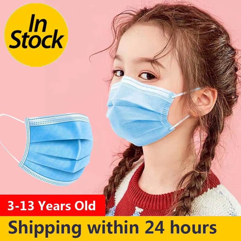 Disposable Face Mask For Kids 3-Layer Protection Mouth Mask Safe Breathing Child Kids Mask Mascherine Health Mask