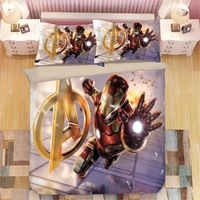 The Avengers Iron Man Bedding set for Kids Bedroom Single Size Quilt Duvet Covers Twin Bedspread Queen Coverlets Boy's Bed King