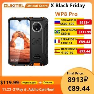 OUKITEL WP8 Pro Smartphone NFC IP68 Rugged Sports Phone mobile 6.49'' Fingerprint Android 10 4GB 64GB 5000mAh 16MP Triple Camera