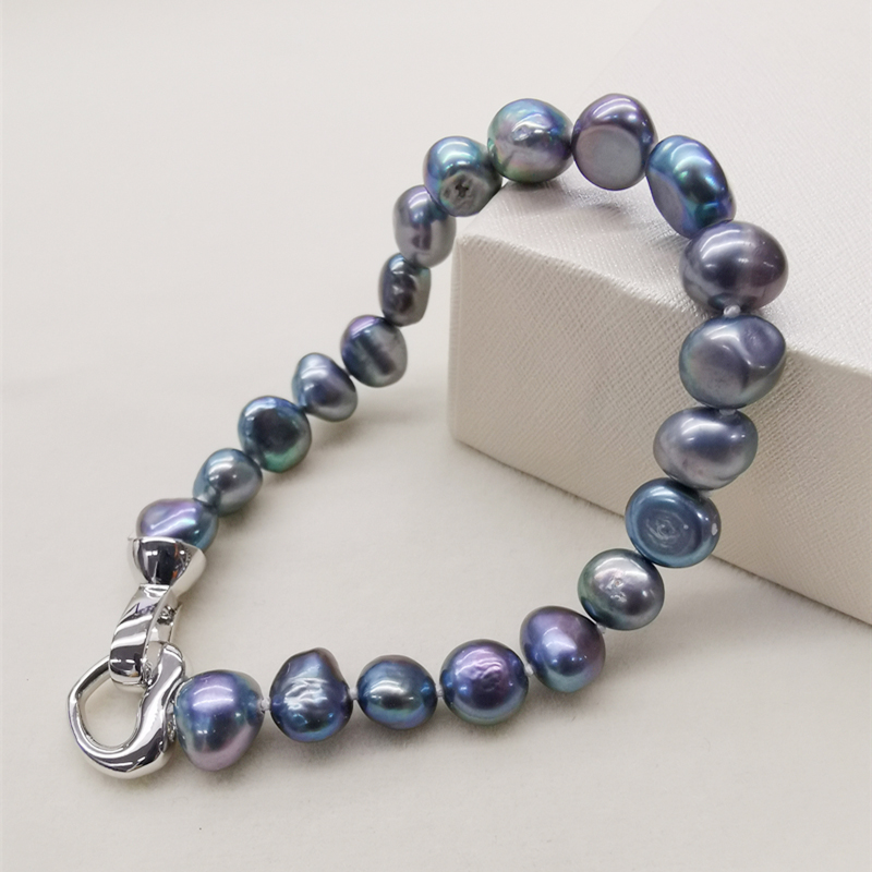 DMBFP155 Natural Freshwater Pearl Bracelet Black/White/Pink/Purple Pearl Bracelet Fine Pearl Jewelry For Women(China)