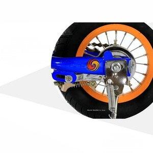 Image 4 - O trotinette dobrável do pedal para adolescentes, o trotinette inflável da roda da liga de alumínio 10 Polegada pode carregar 90kg, scooter do exercício da aptidão