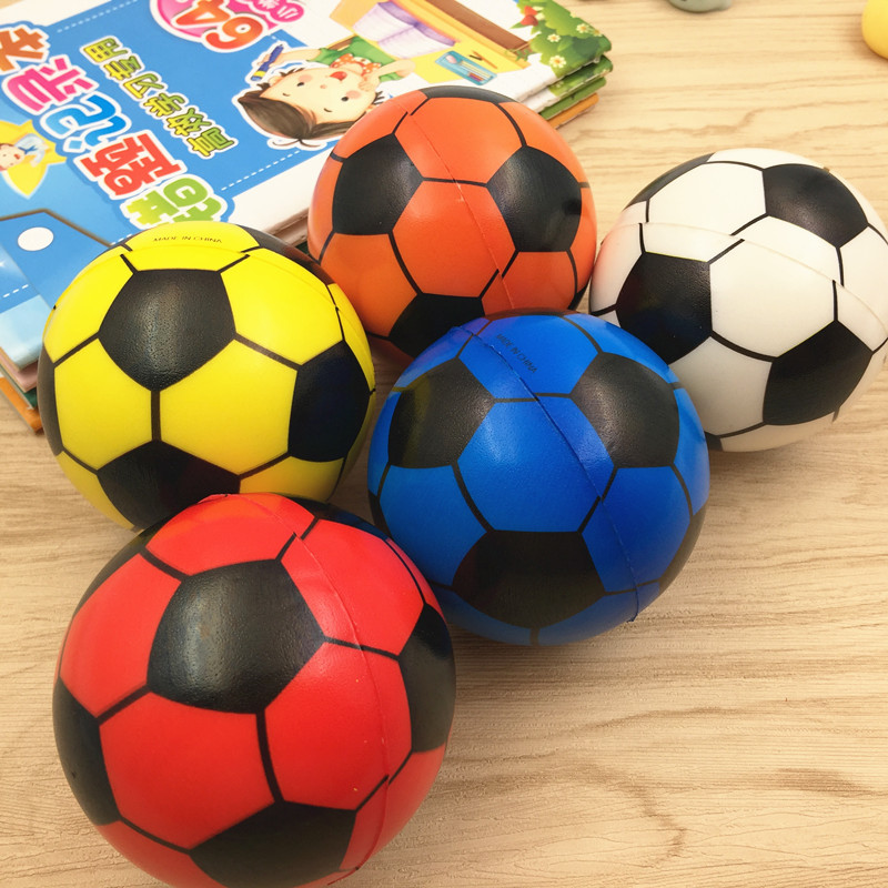 Huilong Soccer Sponge Ball Toy Ball PU Solid Small Ball Bouncy Ball Children's Toy Ball Gift Ball Prize 7.5 CM