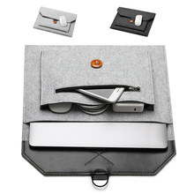 Pochette d'ordinateur portable en feutre de laine sac à main pour ordinateur portable étui pour macbook Air Pro 11 12 13 15 Xiaomi Lenovo pochette d'ordinateur pour tablette iPad(China)