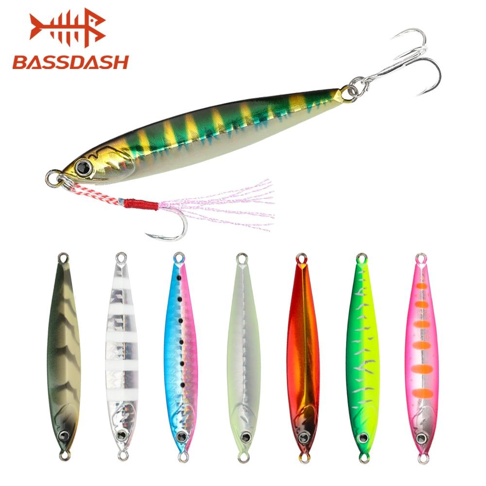 for Saltwater Freshwater Fishing 1 pcs Bassdash Vertical Jigs Slow Jigging Lures Long Casting Jerkbaits 100//150//200 Grams