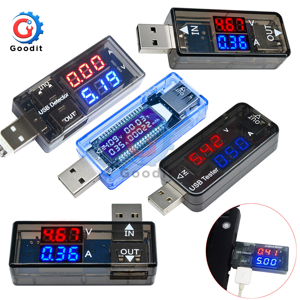 LED Digital Dual USB Port Current Voltage Charging Test Detector Tester Battery Doctor Meter Monitor Voltmeter Ammeter Charger