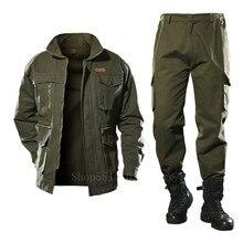 Algodão jaqueta militar dos homens calças de carga definir tático camuflagem multicam combate uniformes bombardeiro macio inverno ao ar livre workwear
