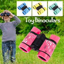 Kids Telescope Binoculars HD 4x30mm Telescope Rubber Colorful Telescope Fixed Zoom Anti-skid Portable Field Glasses Kids Gifts