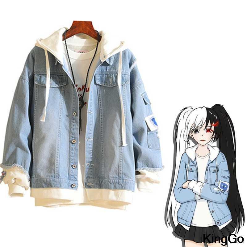 My Hero Academia Denim Jacket Bomber coat Retro hoodie hip hop Jeans outwear